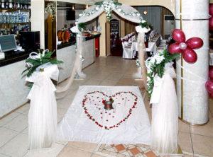 Сватбени украси направени от ресторант Елегант гр. Пазарджик